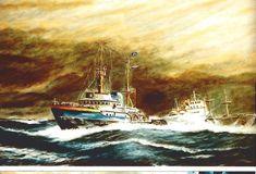 Tugboats, Ship Art, Dutch, Nautical, Ships, Sleep, Painting, Navy Marine, Boats