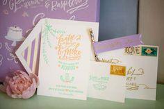 Vintage Pastel Wedding Inspiration - Every Last Detail #pastelweddings #pastelweddingideas #weddinginvitations