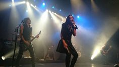 Tarja Turunen and her band: Alex Scholpp, Max Lilja, Tim Shreiner, Kevin Chown and Christian Kretschmar live at Le Transbordeur, Lyon, France. The Shadow Shows, 08/11/2016 #tarja #tarjaturunen #theshadowshows #tarjalive PH: Franck Marsat https://www.facebook.com/franck.marsat
