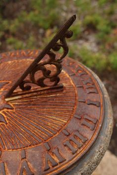 rusty sundial  --  Rust-oleum has a new product called Rust Reformer that works wonders.