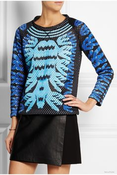 adidas Originals Mary Katrantzou Monster Marathon mesh sweatshirt available at Net-a-Porter for $200