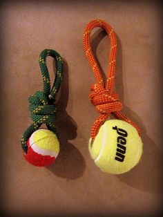 Chews on Belay-100% Recycled climbing rope dog toy Large. $12.00, via Etsy.
