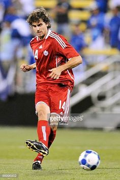 Dejan Jakovic of Canada controls the ball against El Salvador during a CONCACAF Gold Cup match at Crew Stadium on July 7 2009 in Columbus Ohio