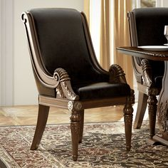 Found it at Wayfair - Chirk Arm Chair Accent Chairs For Sale, Teal Accent Chair, Accent Chairs For Living Room, Solid Wood Dining Chairs, Dining Chair Set, Medieval Home Decor, Traditional Dining Tables, Luxury Dining Room, Dining Rooms