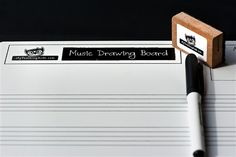 Music Drawing Board with marker and eraser