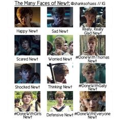 faces of Newt