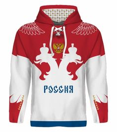NEW 2015 Russia Hockey World Cup Hoodie NHL Ovechkin Datsyuk Tarasenko Malkin