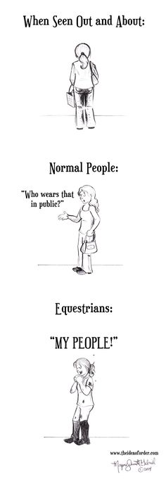 Do you wear your riding clothes in public? #EquestrianComic
