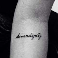 tattoo, serendipity, and love image Kpop Tattoos, Time Tattoos, Word Tattoos, Body Art Tattoos, Sleeve Tattoos, Tatoos, Dainty Tattoos, Small Tattoos, Piercing Tattoo