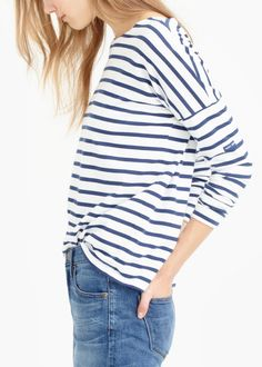 Crew for the Saint James® for J.Crew slouchy T-shirt for Women. Find the best selection of Women Clothing available in-stores and online. We Wear, What To Wear, Beautiful Outfits, Cute Outfits, Mode Simple, Minimal Outfit, Junior, Spring Summer Fashion, Summer Ootd