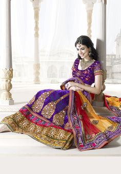 #Purple Velvet #Lehenga Choli