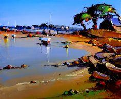Eric Le Pape - La baie de saint Anne-Trégastel - 8F by ericlepape, via Flickr Art Painting, Landscape Paintings, Fine Art, Mural Art, Maritime Art, Seascape Art, Whimsical Art, Seascape, Landscape Art