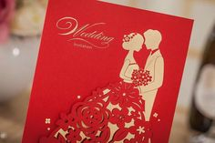Red Wedding Invitations, Wedding Stationery, Wedding Cards, I Party, Ideas Para, Birthday Parties, Paper Crafts, Handmade, Marriage Invitation Card