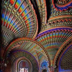 The Peacock Room, Castello Sammezzo, Tuscany, Italy