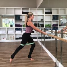 New barre moves this week! Join me for barre every Monday & Tuesday's and Thursday's 👯♀️ . Barre Core, Pilates Barre, Ballet Barre, Pole Dance Moves, Pole Dancing, No Equipment Workout, Training Equipment, My Fitness Pal, Boot Camp Workout