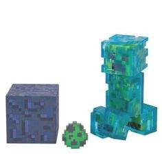 Minecraft Charged Creeper Action Figure Pack Minecraft Video Games, Minecraft Toys, Cool Minecraft Houses, Hama Beads Minecraft, Minecraft Pixel Art, Creeper Minecraft, Minecraft Crafts, Minecraft Party, Minecraft Skins