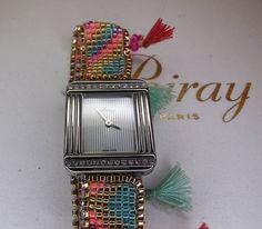 #Poiray Ma Premiere Mini con diamantes Square Watch, Watches, Mini, Accessories, Man Women, Diamonds, Clocks, Men, Women