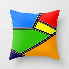 POP Throw Pillow. White topstitching on the black could be an easy way to get this look without having to piece everything.