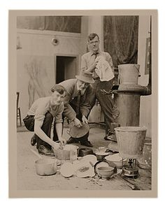 Artists: They're Just Like Us!    They do the dishes!    Andrew Dasburg and others in his studio, 1910 / unidentified photographer. Andrew Dasburg and Grace Mott Johnson papers, Archives of American Art, Smithsonian Institution.