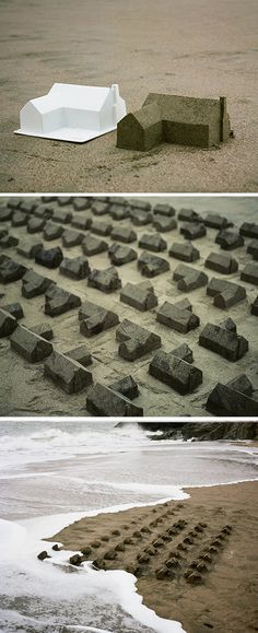 The American Dream - sand sculpture installation by Chad Wright