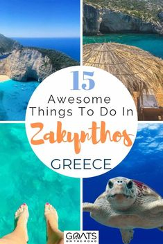 15 Cool Things To Do in Zakynthos Greece - Goats On The Road - Distinguished by the crystal clear blue waters, Zakynthos in Greece is a bucket list destination! Greece Vacation, Greece Travel, Greece Trip, The Road, Couple Travel, Stuff To Do, Things To Do, Zakynthos Greece, Road Trip