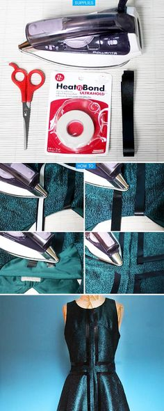 My DIY   Leather Striped Dress   I SPY DIY