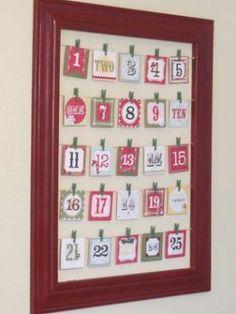DIY Christmas Advent Activity Calendar