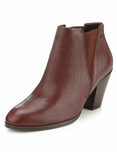 Autograph Leather Slip-On Boots with Insolia®-Marks & Spencer