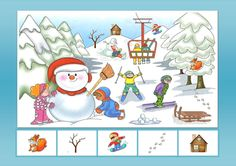 Winter Activities For Kids, Toddler Activities, Crafts For Kids, Preschool Decor, I Spy Games, Cicely Mary Barker, Hidden Pictures, Speech Language Therapy, Winter Kids
