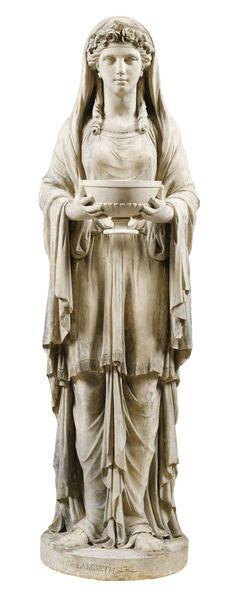 A George III Coadestone figure of a Vestal Virgin - dated 1794. 123cm