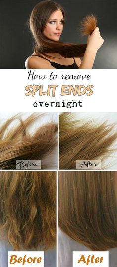 How to remove split ends overnight