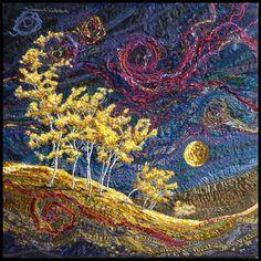 Lorraine Roy Art Textiles - Starry NIght.   So LOVE