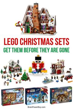 New LEGO Christmas Sets for 2019 Get Them Before They Are Gone! LEGO Christmas Sets for Do not miss these great sets. Get them before they are all gone or go way up in price. Lego Christmas Sets, Lego Christmas Village, Kids Christmas, Christmas Gifts, Christmas Planning, Lego Birthday Party, Boy Birthday Parties, Activities For Boys, Learning Activities