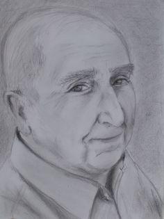 'My Old Friend John' by Yana Morozov-Edelshtein. A4 paper using pencil.