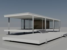 Ludwig Mies van der Rohe: Farnsworth House, Illinois, 1946-50