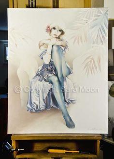 Original Sara Moon Artwork For Sale Moon Painting, Painting & Drawing, Sarah Moon, Moon Art, Filet Crochet, Oil On Canvas, Original Artwork, Art Gallery, Artists