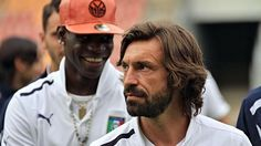Andrea Pirlo Mario Balotelli Of Italy Chats To L Prior Pictures