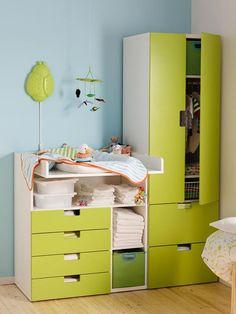 El cambiador para la habitación del bebé                              …