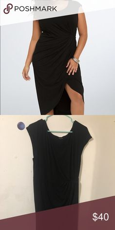 TORRID elegant black dress Be a big, beautiful, baddie in this dress. Used only once for my high school graduation and be in storage! Plus size 2! torrid Dresses Midi
