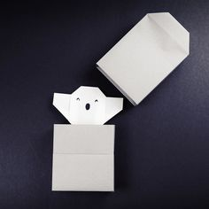 Origami Ghost  tutorial: https://youtu.be/SX-l-CUJ1Qk  quite easy to make  #origami #ghost #origamighost #diy #paper #paperfolding #papercraft #paperkawaii #cute #kawaii #box #tutorial #instructions #youtube