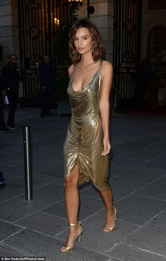 Go for gold in a vintage Morphew dress like Emily #DailyMail Click to shop now