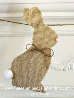 Burlap bunny banner from Uncommon Designs.