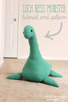 We Lived Happily Ever After: DIY Nessie | Pattern and Tutorial, sewing, kids, gifts, handmade