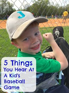 5 Things You Hear at a Kid's Baseball Game  Have you ever listened to all the things said at a kid's baseball game? Here are the top 5!