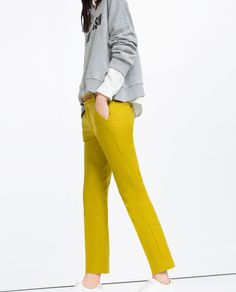 MID-RISE TROUSERS WITH BELT