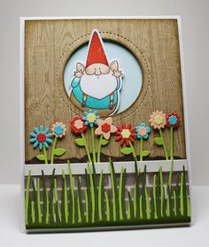 Handmade gnome card from Jody Morrow featuring the Birdie Brown You Gnome Me stamp set and Die-namics.