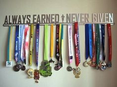 Always earned. never given. I want to put all my horse show ribbons together like this