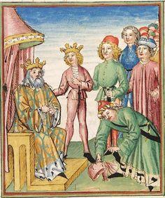 Pontus und Sidonia — Stuttgart (?) - Werkstatt Ludwig Henfflin, um 1475 Cod. Pal. germ. 142 Folio 19r