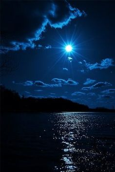 """Blue moon - paint this so I can always have my """"blue moon"""" conditions. Never will I say """"once in a blue moon"""" again. Beautiful Moon, Beautiful World, Beautiful Places, Beautiful Scenery, Shoot The Moon, Blue Moon, Moon Sea, Moon River, Sky Moon"""