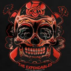 The Expendables Skull TNT T-Shirt on CafePress.com